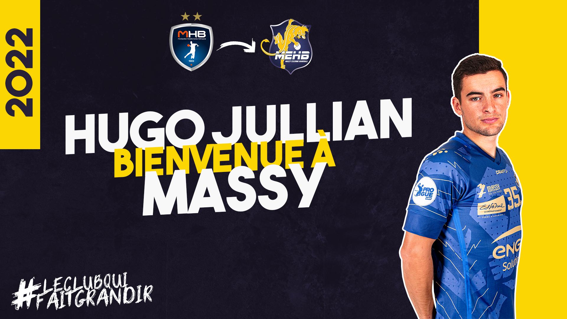 Hugo Jullian s'engage avec le Massy Essonne Handball