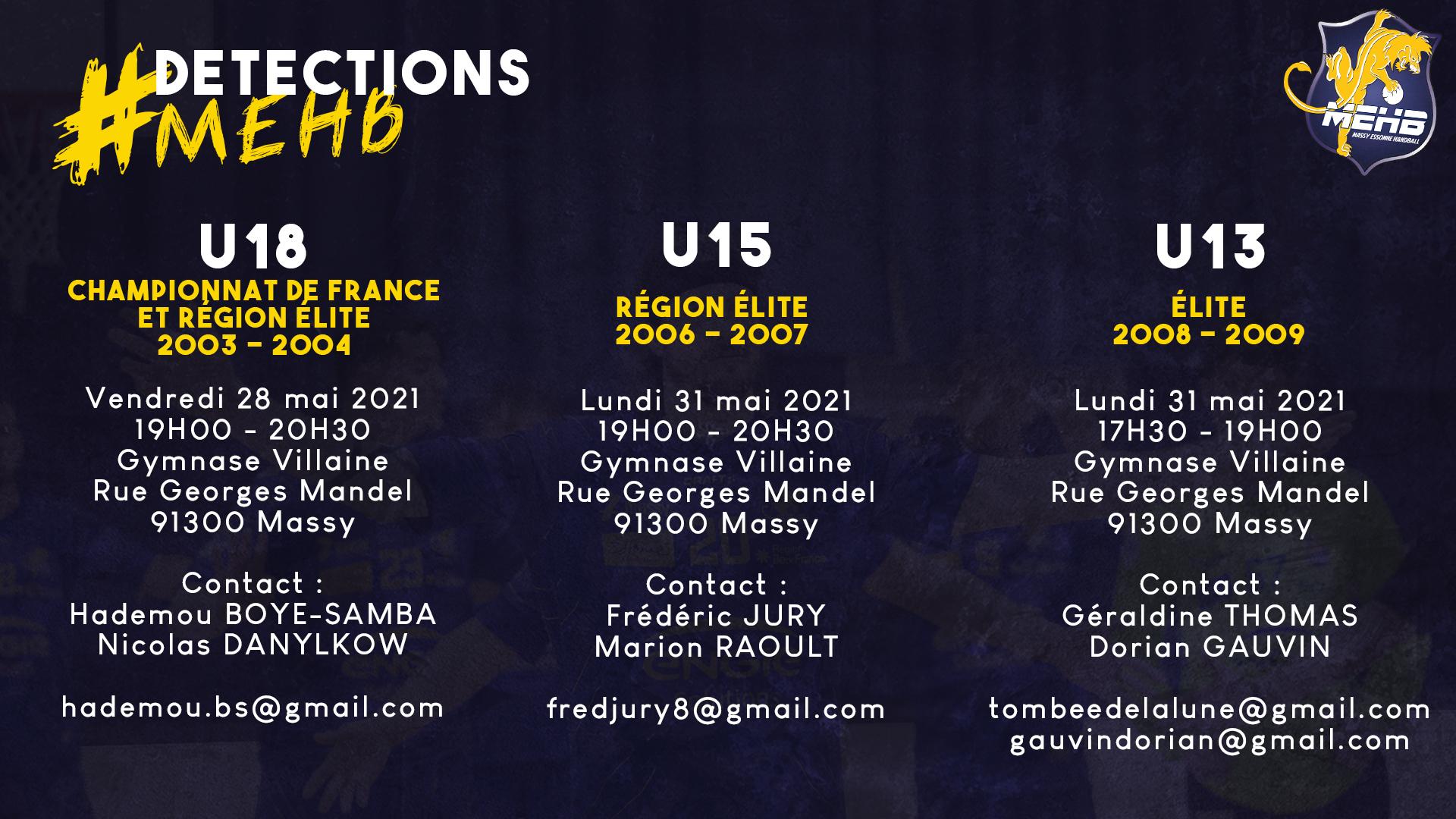 Détections Massy Essonne Handball
