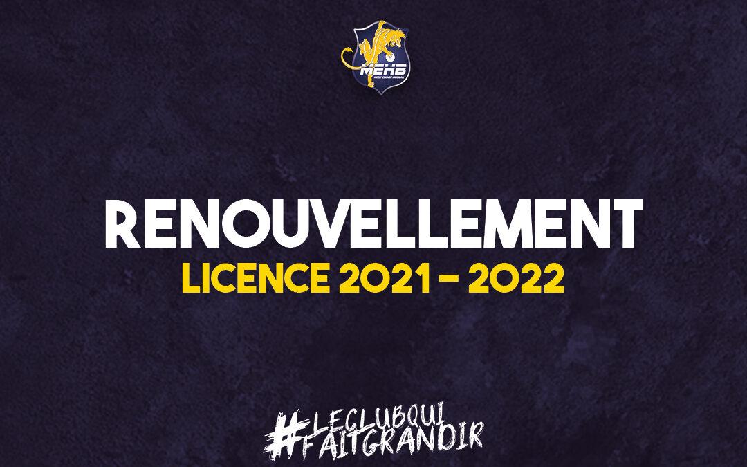 Ouverture des renouvellements de licences 2021 – 2022